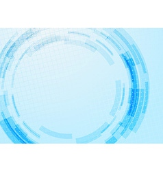 Blue technology gear modeling background vector image vector image