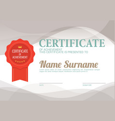 Clean and simply blank certified border template vector