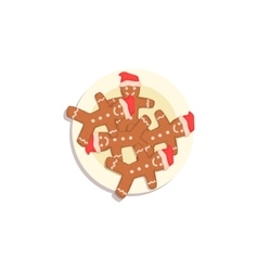 Doll shaped cookies classic christmas symbol vector