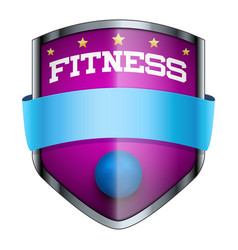 Fitness Shield badge vector image