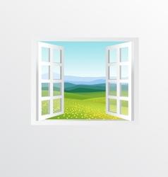 open windows vector image