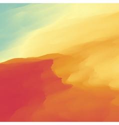 Abstract desert landscape background vector