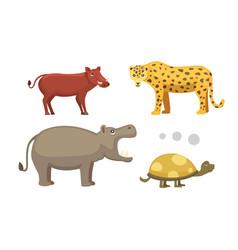 african animals cartoon set elephant vector image vector image