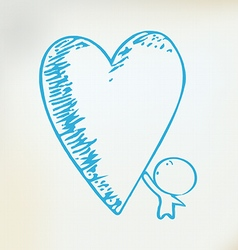 caring heart vector image