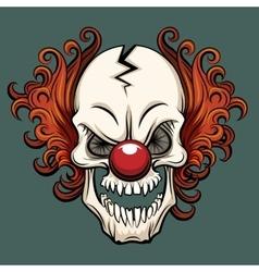 evil clown vector image vector image