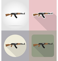 Weapon flat icons 02 vector