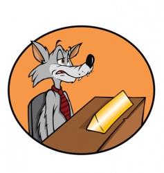 wolf job vector image vector image