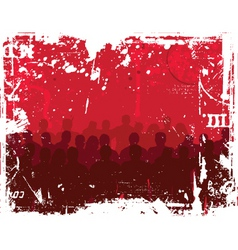 young people grunge background vector image vector image