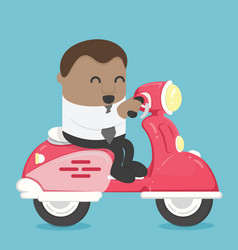 african business drive a scooter vector image