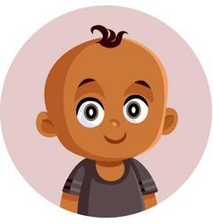 African little ba cartoon vector
