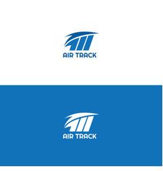 Air track logo vector