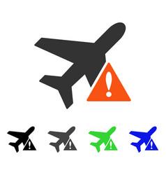 airplane error flat icon vector image