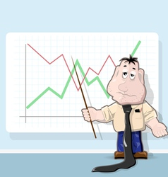 Analyst cartoon vector