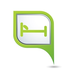 Bed green pointer vector
