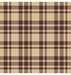 Beige brown check plaid seamless fabric texture vector