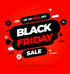 black friday sale inscription design template vector image