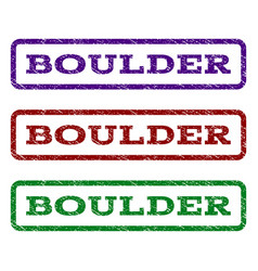 Boulder watermark stamp vector