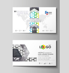 business card templates abstract template vector image