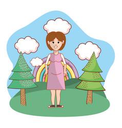 cartoon woman design vector image
