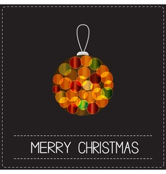 Christmas ball Shining bokeh lights effect Merry vector image