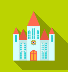 Church icon flate single building icon from the vector
