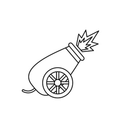 Circus cannon shooting icon outline style vector