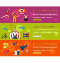 Circus performance entertainment amusement show vector image