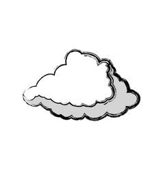 Cloud weather symbol vector