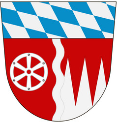 Coat of arms of miltenberg in lower franconia in vector