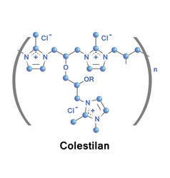 colestilan is a medication vector image