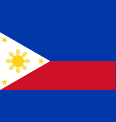 Colored flag of the philippines vector