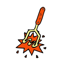Comic cartoon potato masher vector