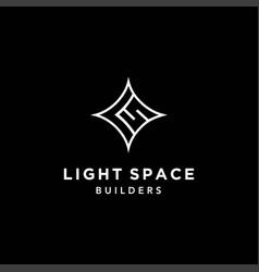 Cool and modern logo initials ls vector