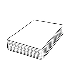 Cover book hand draw vector