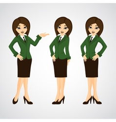 Cute cartoon of a beautiful business vector