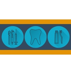 Dental flat vector image