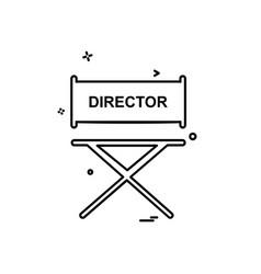 director icon design vector image