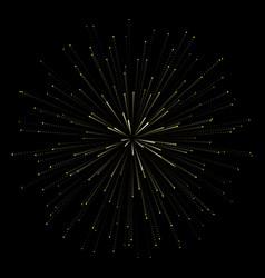 fireworks new year celebration festive night vector image
