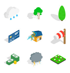 Fix health icons set isometric style vector