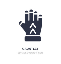 Gauntlet icon on white background simple element vector