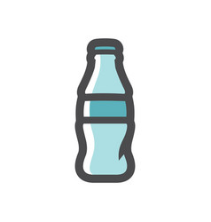 glass bottle soda icon cartoon vector image