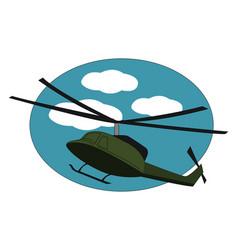 green choper on white background vector image