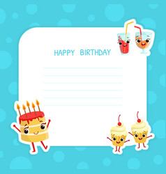 happy birthday banner template with space for text vector image