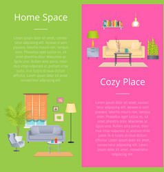 Home space and cozy place vector