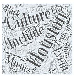houston entertainment Word Cloud Concept vector image