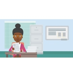 HR manager checking files vector