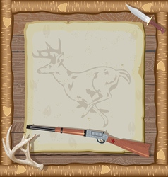 hunting invitation vector image