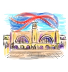 king cross station vector image