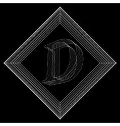 Letter D Fonts of Mesh vector