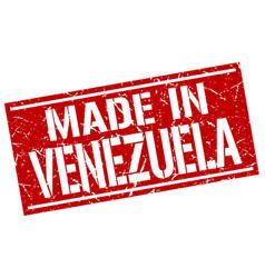 Made in venezuela stamp vector